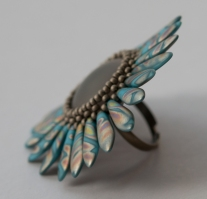 Polaris Dagger Ring by Sarah Cryer Beadwork